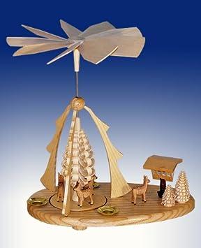 Weihnachtspyramide Rehe Tischpyramide Pyramide Erzgebirge Seiffen NEU