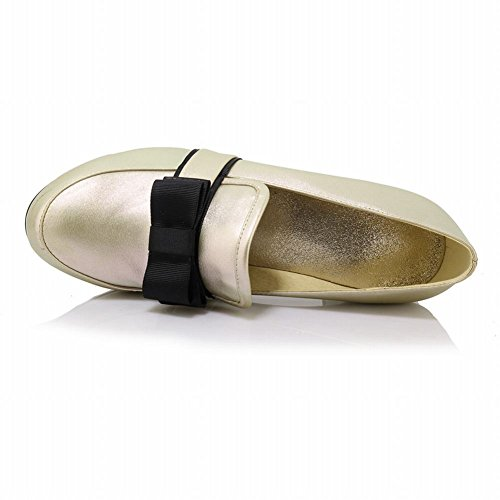 Latasa Dames Boog Dikke Hak Loafers Schoenen Pumps Schoenen Goud