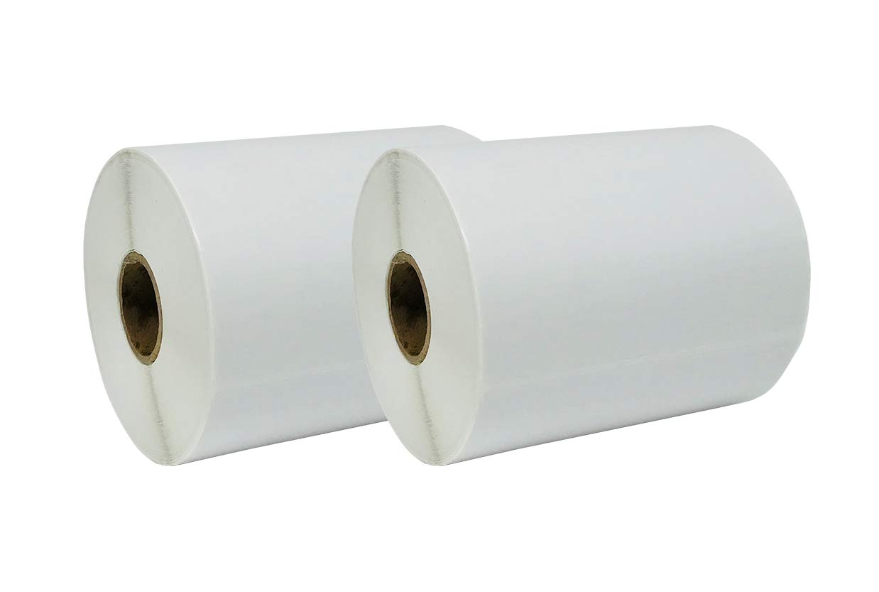 Zebra Compatible Large Shipping Labels, 4 x 6, Direct Thermal, 1 inch Core, White, 2 Rolls of 250 Labels 4 x 6 Orijan