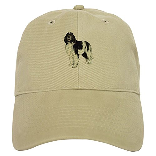 CafePress Standing Landseer Newfoundland Baseball Cap with Adjustable Closure, Unique Printed Baseball Hat Khaki