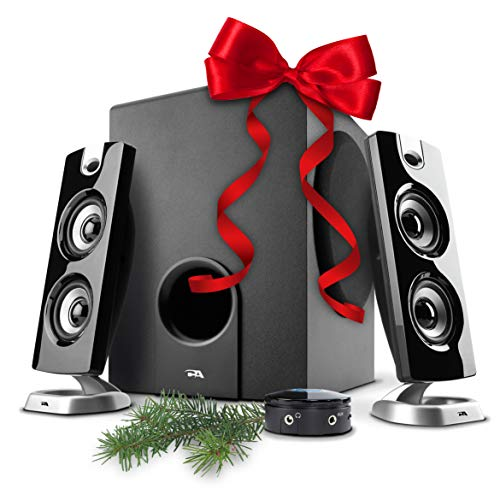 Cyber Acoustics CA-3602FFP 2.1 Speaker Sound System with Subwoofer and