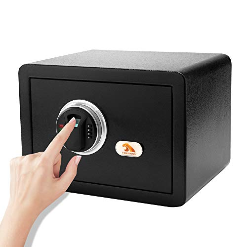 TIGERKING Biometric Safe Fingerprint Safe Agile Fingerprint Recognition System ,Convenient and Rapid Opening, Great For Home, Hotel, Office, Say Goodbye To Complicated Numerical Passcodes