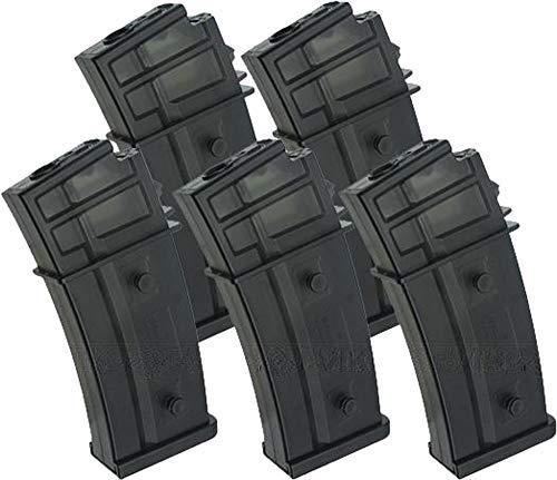 Evike G36 470rd Hicap Magazine for H&K G36 SL9 Marui Series Airsoft AEG Rifles (Package: Box Set of 5)