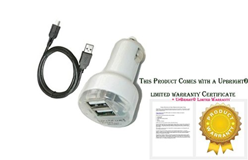 UpBright NEW Car DC Adapter + Micro USB Charging Cable For 7