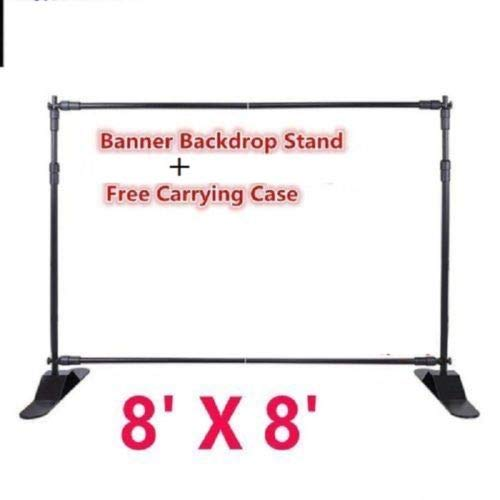 Photo Backdrop Banner Adjustable Stand 10 X 8 with Telescopic Poles for Trade Show Display Stand, Step and Repeat Frame Stand, Photography Booth - Carrying Case Free by BANNER BUZZ MAKE IT VISIBLE (Image #2)