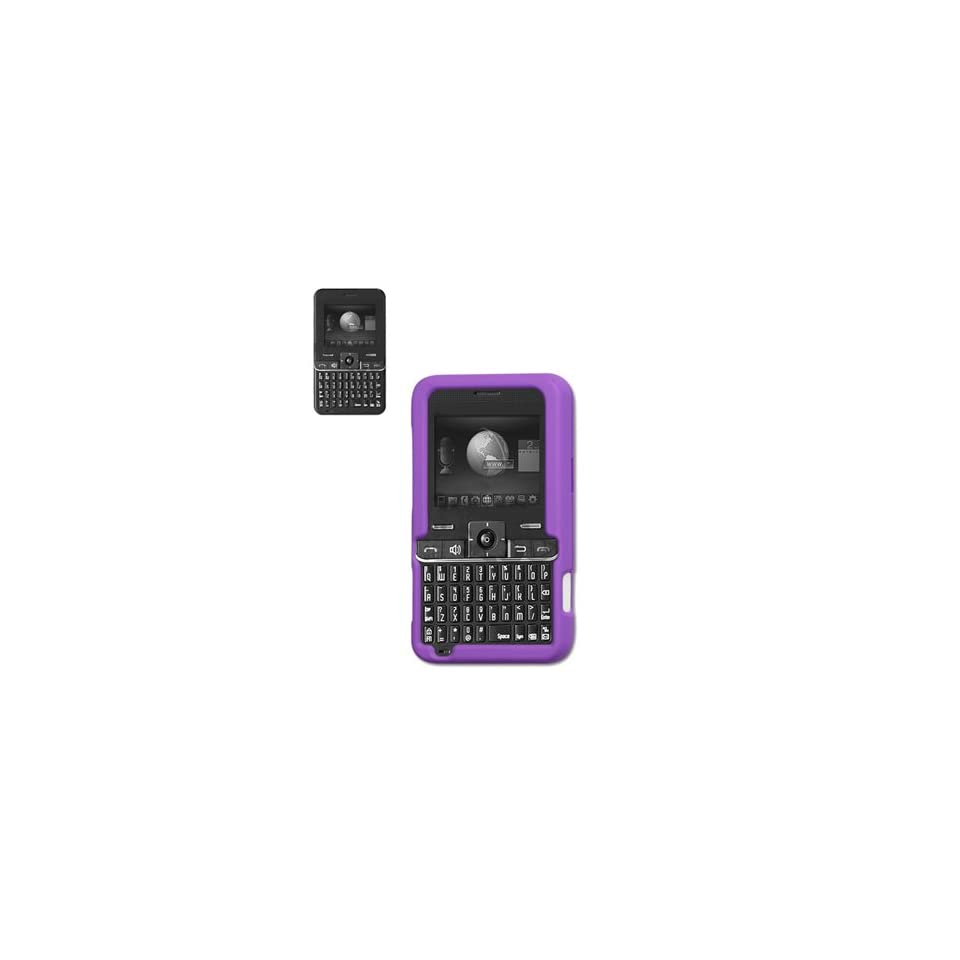 New Fashionable Perfect Fit Hard Protector Skin Cover Cell Phone Case for Cal Comp MSGM8 / A300 Cricket   Purple