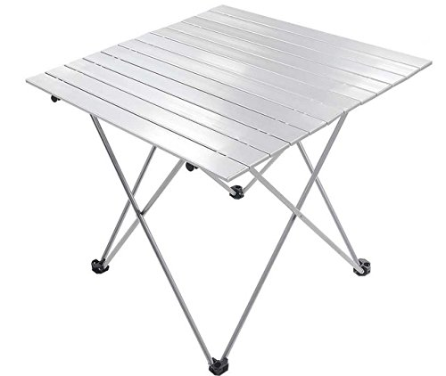 [Aluminum Roll Up Table Folding Camping Outdoor Indoor Picnic w/ Bag Heavy Duty] (Life Size Halloween Butler)