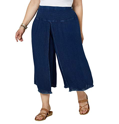 - Avenue Women's Denim Blue Tulip Capri, 14/16 Medium Wash