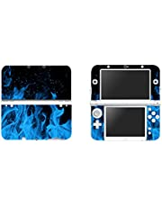 FOTTCZ Vinyl Cover Decals Skin Sticker for New 3DS XL/LL - Ice Blue Flame