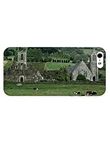 3d Full Wrap Case for iPhone 5/5s Animal Cows On The Field59 by mcsharks