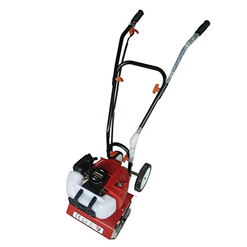 WUPYI Commercial 52cc Gas Powered Mini Tiller Cultivator Farm Plant Garden Yard Lawn Tilling,2HP 2-Stroke,1.45KW