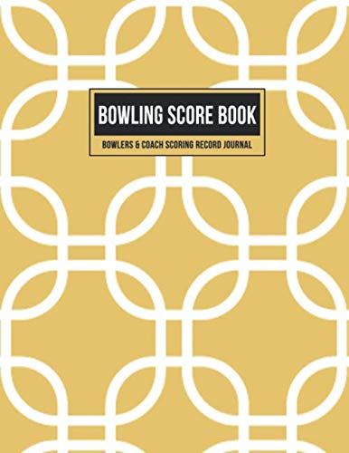 Bowling Score Book Bowlers & Coach Scoring Record Journal: Team Game Score Keeper Notebook with Formatted Sheets for Strikes, Spares, Handicap & Notes (Gold Geometric) por Score That Game