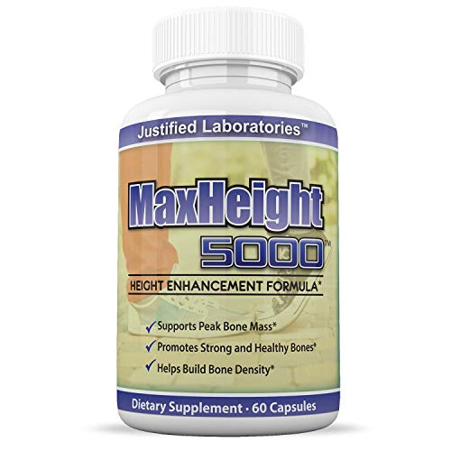 MaxHeight 5000 Height Enhancement Bone Growth Formula 60 Capsules 1 Bottle