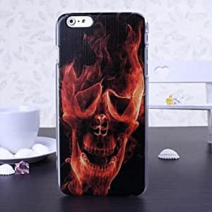 FJM Colorful Skull Series Pattern Plastic Hard Cover for iPhone 6 Plus(Assorted Colors) , Multicolor