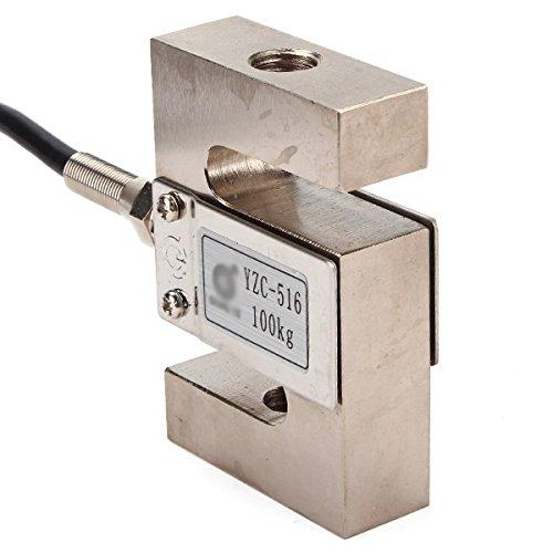 WEONE 100 kg con cable Negro brazo de la balanza de celda de carga Sensor de S Tipo de sensor de pesaje YZC-516: Amazon.es: Iluminación