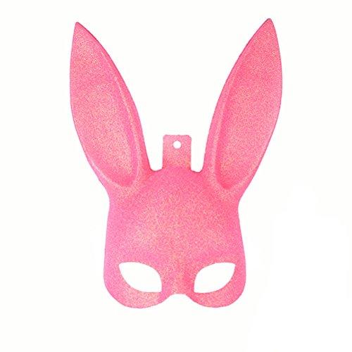 LUOEM Adult Bunny Mask Women's Masquerade Rabbit Mask
