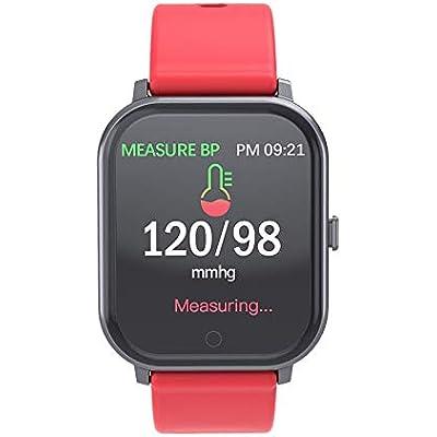ouyang Smart Bracelet  Heart Rate  Blood Pressure And Blood Oxygen Monitoring  Sports Waterproof Smart Bracelet red