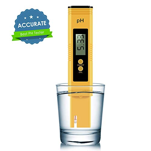 VEROSKY Digital PH Meter, PH Meter 0.01 PH High Accuracy Water Quality Tester with 0-14 PH Measurement Range for Household Drinking, Pool and Aquarium Water PH Tester Design with ATC