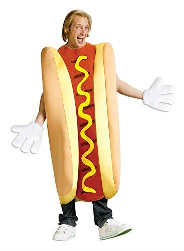 [One-Piece Hot Dog Adult Funny Suit Costume Fancy Dress Halloween Party Favor- Trending Online] (Top Diy Halloween Costumes 2016)