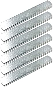 CLISPEED 6pcs Stainless Steel Plates for Weighted Vest Strength Training Plates for Fitness Exercise (Silver)
