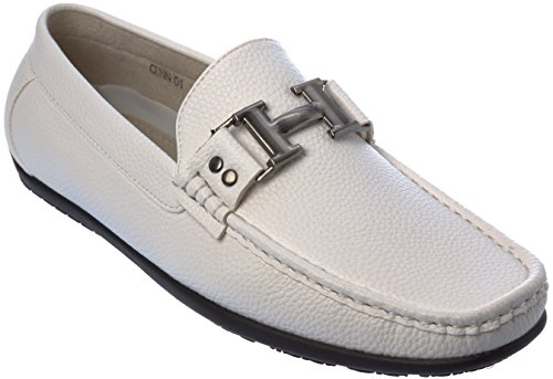 Brix Menns Slip-on Fashion-loafer Sko Hvit