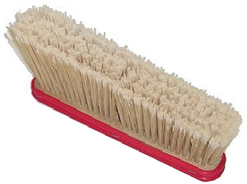 HUB City Industries 2020A  2'' x 14'' Beige Feathered Poly Bristles, 4'' Angled Trim Hardwood, Block