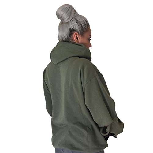 felpa felpa camicetta hollow donne Verde massimo Deylaying pullover casual al freddo manica EzqnR87
