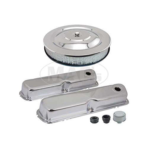 - MACs Auto Parts 44-38832 Ford Mustang Engine Dress-Up Kit - Chrome - 260 Or 289 Or 302 Or 351 Windsor V-8