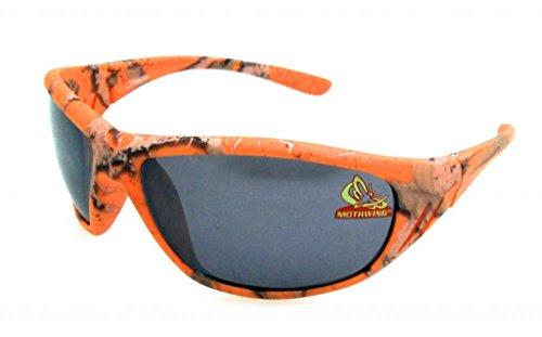 Mothwing Men's Camo 63 MM Wrap Sunglasses - Orange Camo Sunglasses
