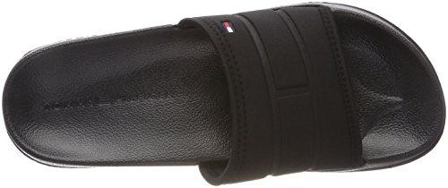 Tommy Hilfiger Collectieve Zwembadglijbaan - Zwarte (door De Mens Gemaakte) Sandalen Voor Heren