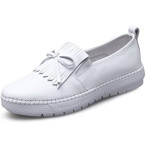 Casual Female Shoes Tassels A Korean White soled Joker Leather Shoes Spring Shoes Women's The Shoes Thick In Small Shoes Xw8gBqW