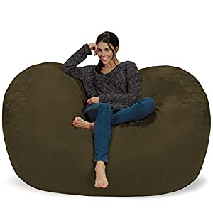 Chill Sack Bean Bag Chair: Huge 6′ Memory Foam Furniture Bag and Large Lounger – Big Sofa with Soft Micro Fiber Cover…