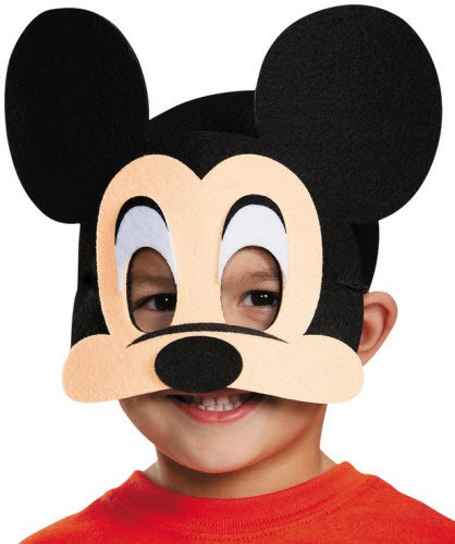 [Disguise Costumes Mickey Mouse Felt Mask, Toddler] (Daniel Tiger Deluxe Costumes For Toddlers)