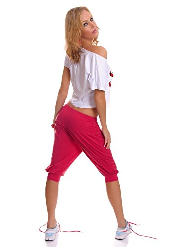 WeaModa - Pantalón - para mujer Rojo