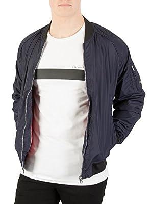 Calvin Klein Jeans Men's Omri Bomber Jacket, Blue