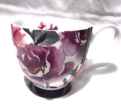 Portobello By Design Purple And Pink Peony Flower Bone China - Peony China Pink