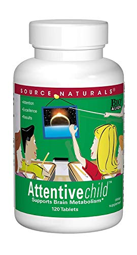 Source Naturals Attentive Child, Brain Attention Span and Mental Concentration Support - 120 Tablets