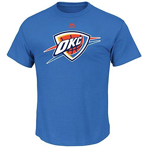 fan products of NBA Oklahoma City Thunder Men's Logo II Short Sleeve Basic Tee, Large, Sport Blue