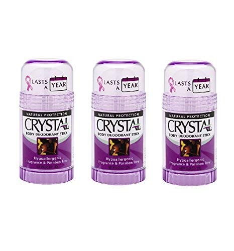 Crystal Body Deodorant Stick - 4.25 Oz Pack of 3