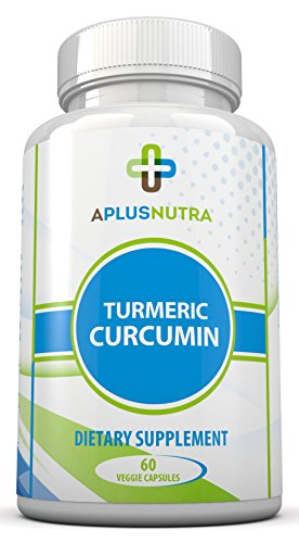 Turmeric Curcumin - Powerful 100% Pure Natural All Natural Supplement With Bioprene For Superior Absorption - 60 Capsules By A Plus Nutra