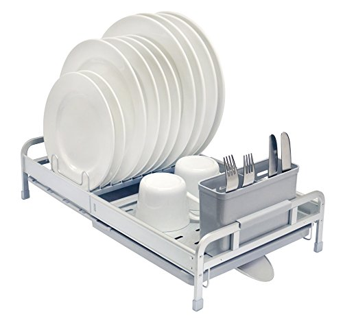 REAL HOME Innovations Deluxe Aluminum Expandable Dish Rack S