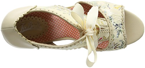 Joe Browns a Day To Remember Shoes, Sandalias con Plataforma Para Mujer Off-white (a-cream)