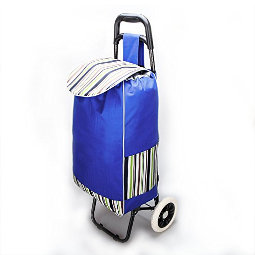 Lightweight Wheeled Trolley (Walmar Lightweight Wheeled Shopping Trolley, Aluminum Supermarket Hand-drawn Shopping cart)