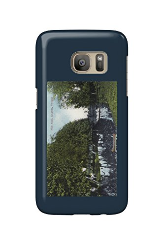 Eugene, Oregon - Scenic River with Canoe Scene (Galaxy S7 Cell Phone Case, Slim Barely - Eugene River