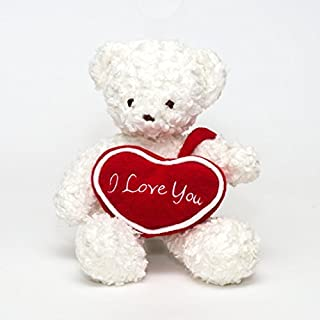 """product image for Bears For Humanity 10"""" I Love You Bear, White"""