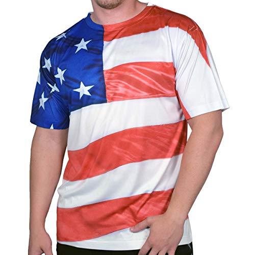 American Summer Men's 4th of July Short Sleeve T Shirt (FGWRAP, XXL) -