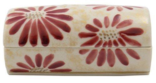 Pink Chrysathemum Kiyomizu Yaki Porcelain 3.5inch Toothpick holder