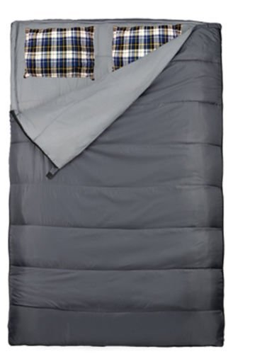 Loftra Duo Plus Cojín, Gris Saco de Dormir Doble, 220 x 150/75 cm, diseño de O: Amazon.es: Deportes y aire libre