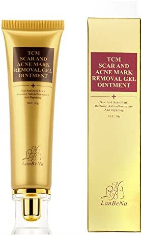 TCM Scar Cream, Acne Scar Removal Cream, Skin Repair Scars Burns Cuts Pregnancy Stretch Marks, Acne Spots Acne Treatment Blackhead Whitening Cream Stretch Marks for Face and Body (30ml)