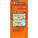 Michelin Map No 562 Notheast Italy: Trentino-Alto Adige, Veneto, Friuli-Venezia Giulia, Emilia- Romagna (Italian Edition)